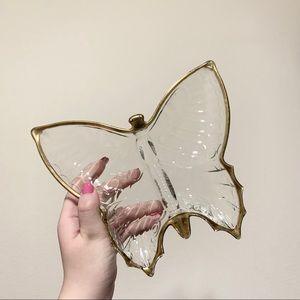 Vintage butterfly trinket tray